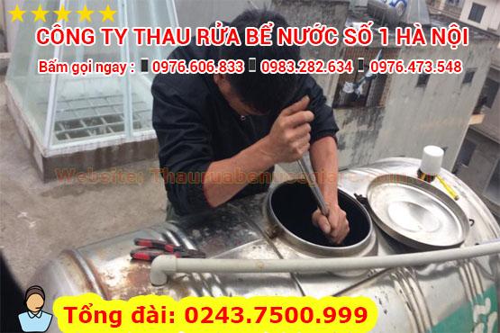 dịch vụ thau rửa bể nước số 1 hà nội
