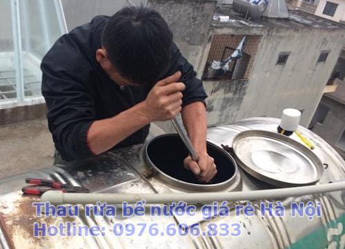 dịch vụ thau rửa bể nước giá rẻ