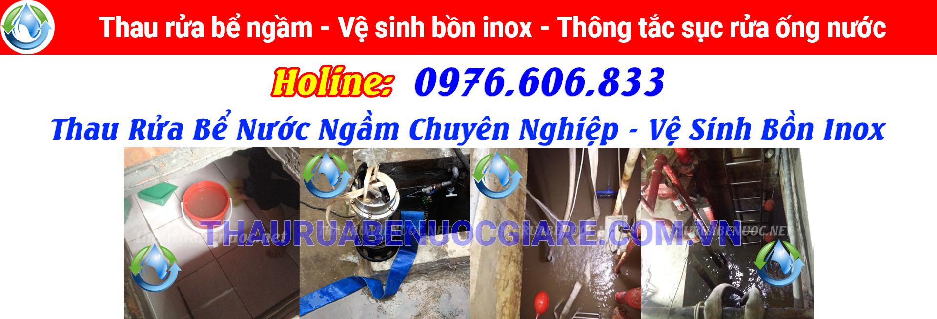 thau rửa bể nước giá rẻ hà nội đảm bảo vệ sinh