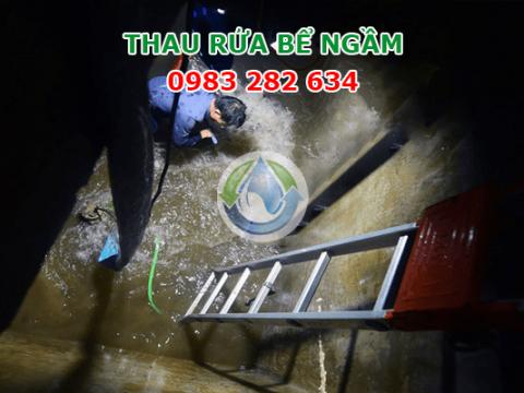 Thau bể ngầm, rửa bể nước sạch giá rẻ tại Hà Nội