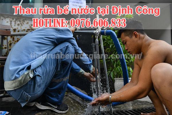 rửa bể nước định công