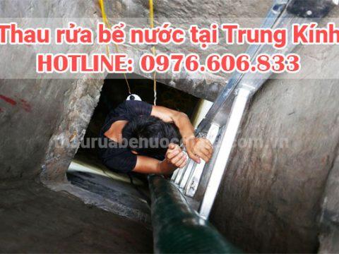 Rửa bể nước Trung Kính, thau rửa bể nước ăn giá rẻ 0976 606 833