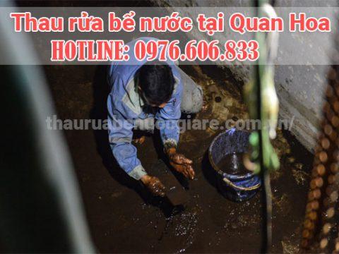 Rửa bể nước Quan Hoa. thợ chuyên nghiệp, thau rửa bể nước ngầm