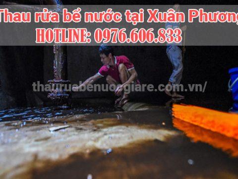 Thau rửa bể Xuân Phương, Hà Nội. Thợ thau rửa bể ngầm chuyên nghiệp