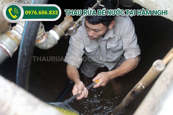 thau rửa bể nước hàm nghi