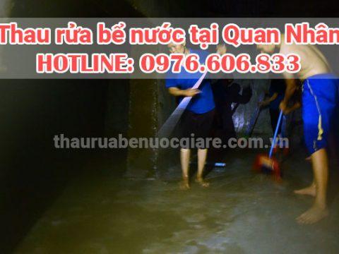Thau rửa bể nước Quan Nhân đảm bảo vệ sinh 0976 606 833