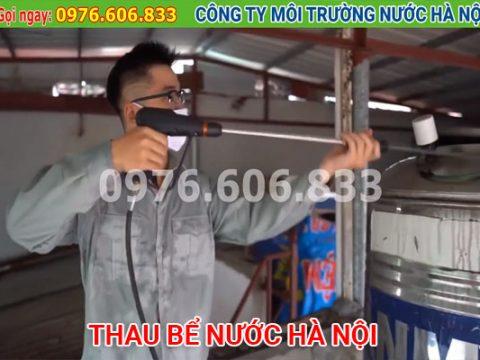 Thau bể nước Hà Nội. Sục rửa đường ống nước sạch đảm bảo vệ sinh
